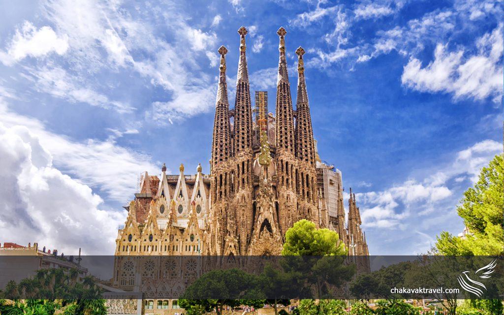 بارسلونا اسپانیا مناطق توریستی و گردشگری