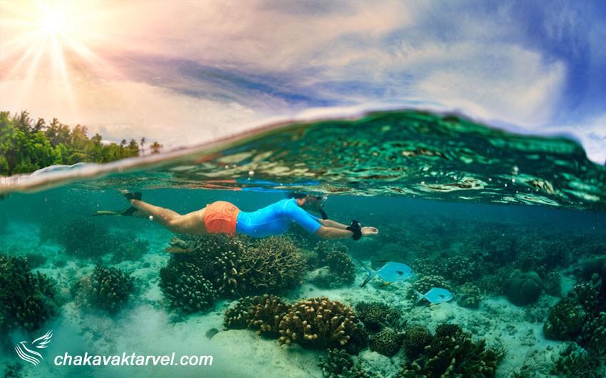 موج سواری و غواصی در جزیره بالی اندونزی