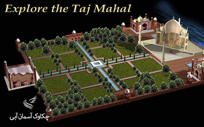 باغ تاج محل و نقشه آن