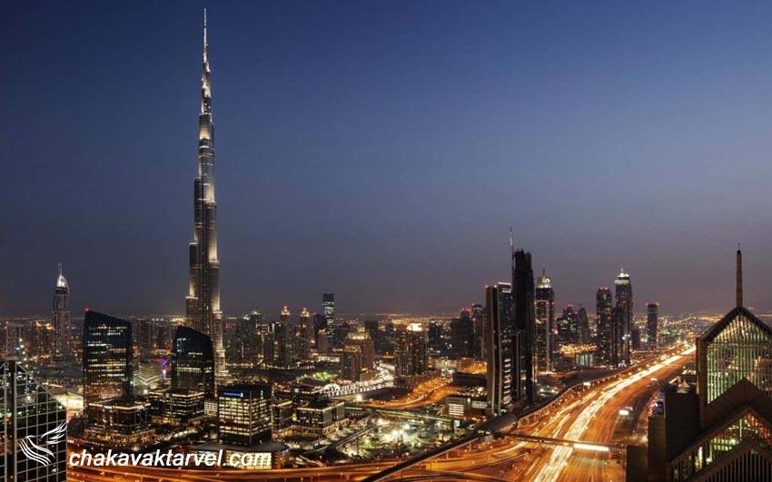 برج خلیفه معماری و فضای سبز آسمان خراش دبی امارات