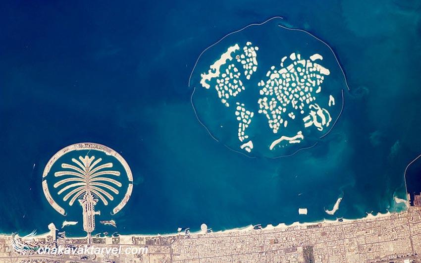 جزیرههای نخلی دبی جزیره نخل دیره و نخل جبل علی اثرات مخرب زیستمحیطی جزایر مصنوعی دبی