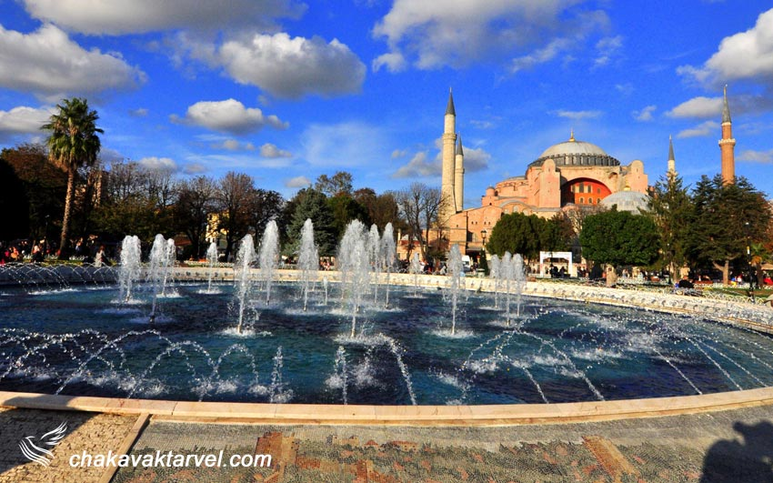 مرکز خریدها و خیابانهای بزرگ شهر استانبول مسجد حاجیه صوفیه