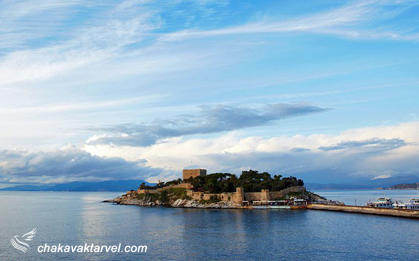 جزیره کبوتر یا گورچین آدا کوش آداسی | Pigeon Island, Güvercin Ada