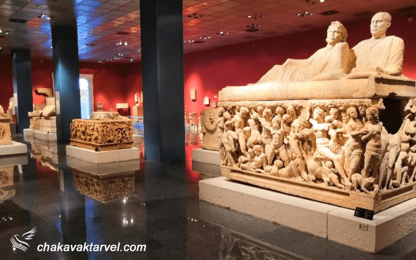 مجسمه های مرمری و تابوت های موزه آنتالیا ترکیه