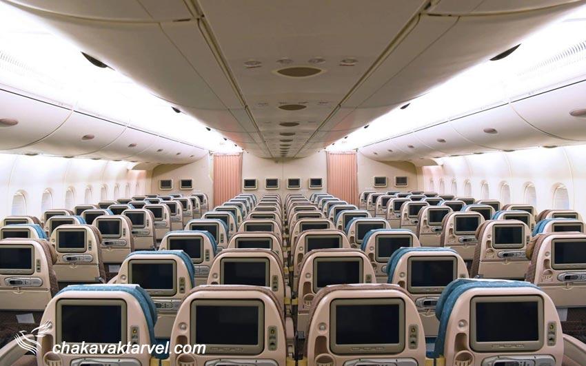 کلاس پروازی اقتصادی یا اکونومی کلاس در بلیط مسافرین economy class یا Y نشان دهنده این نوع کلاس می باشد.