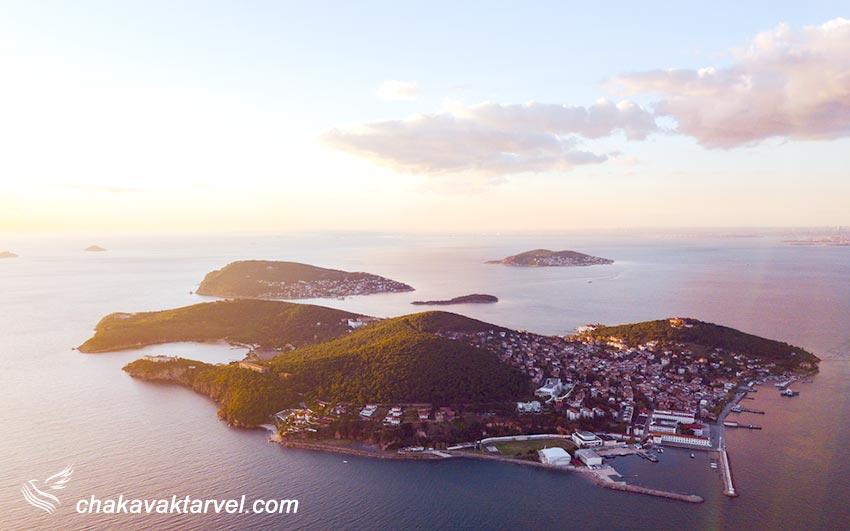 جزایر پرنس ترکیه در دریا
