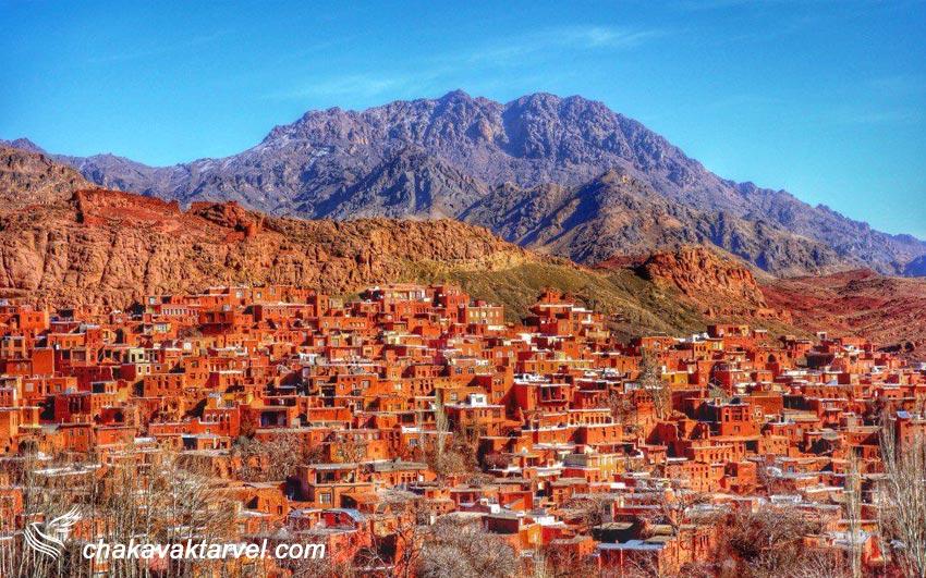 روستای ابیانه نگین سرخ ایران