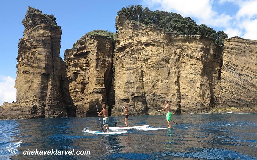 صخره نوردی و کایاک سواری و قایق سواری در جزایر ازور پرتقال