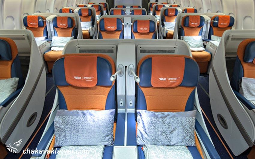 کلاس پروازی تجاری یا بیزینس کلاس در بلیط مسافرین business class یا C نشان دهنده این نوع کلاس می باشد.