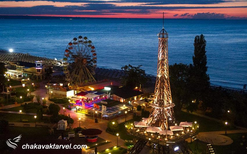 برج ایفل وارنا بلغارستان رستوران ساحلی گلدن سندز جاذبه های دیدنی وارنا و اقامتگاه تفریحی Golden Sands