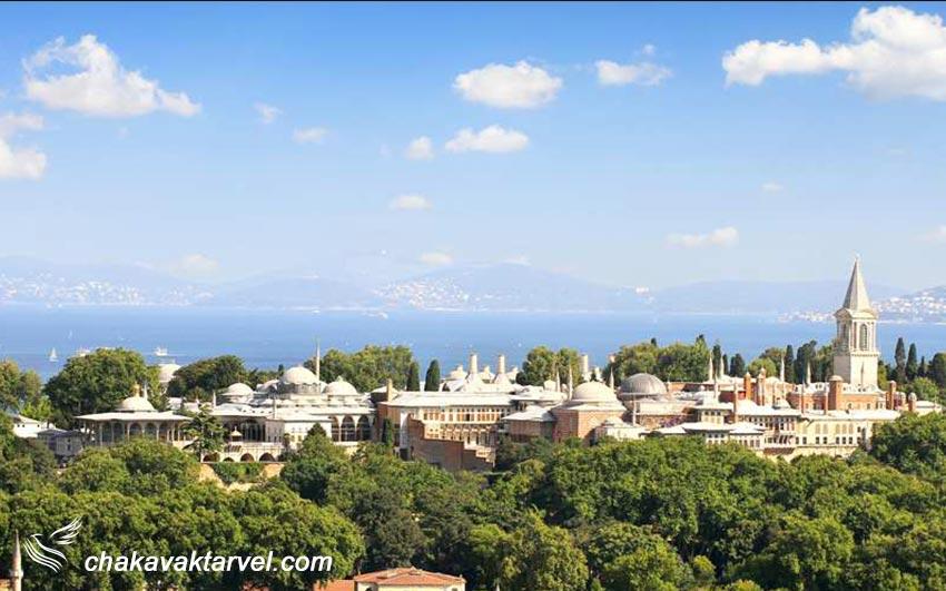 معماری قصر توپکاپی یا کاخ توپقاپی استانبول