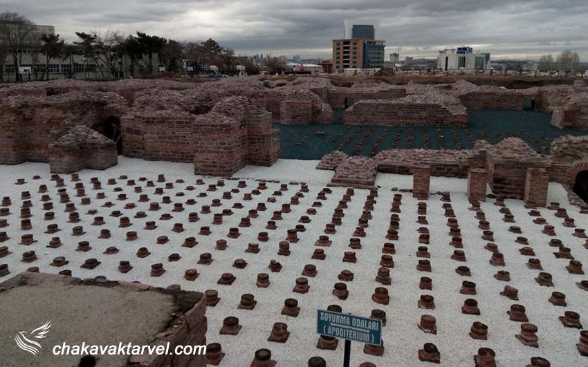 خرابه های رومی و مجموعه حمام های رومی آنکارا ترکیه