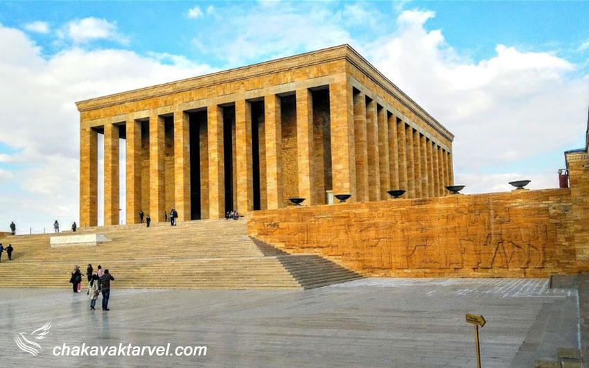 آنیت کبیر موزه و مقبره آتاترک در آنکارا ترکیه