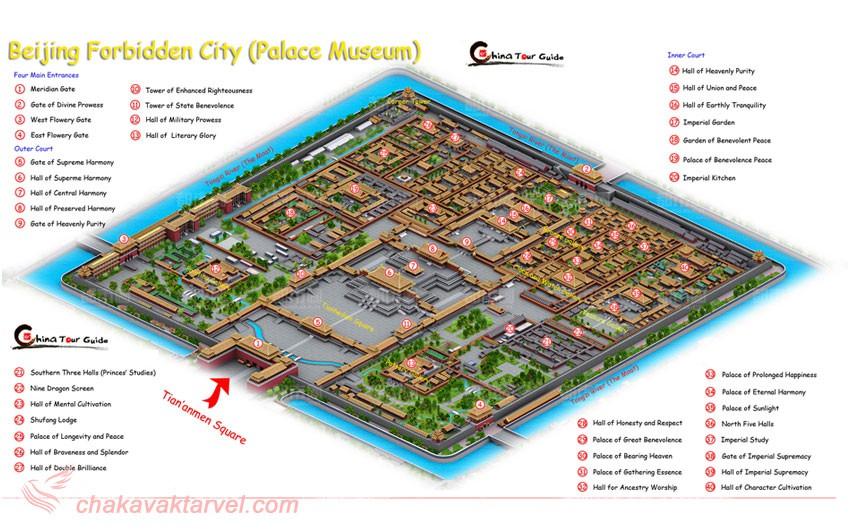 نقشه شهر ممنوعه پکن چین