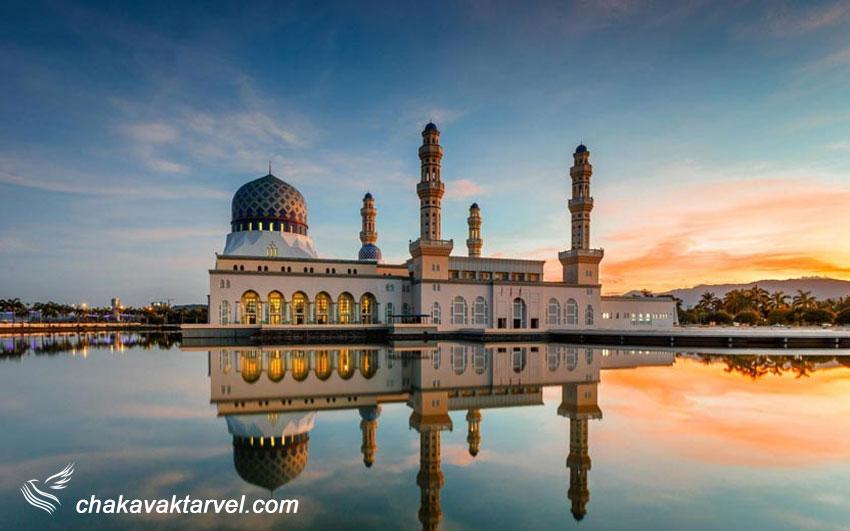 یکی از زیباترین مساجد دنیا در صباح مالزی