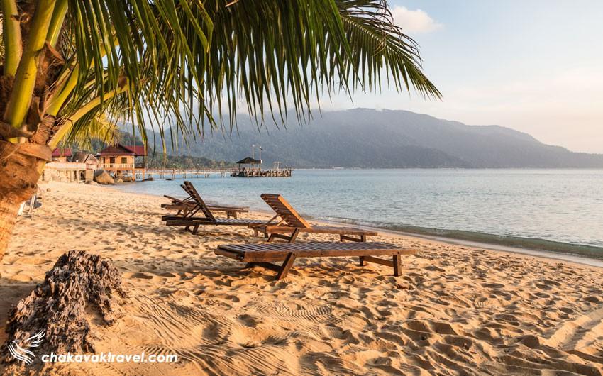 سواحل و دهکده های ساحلی در جزیره تیومان مالزی
