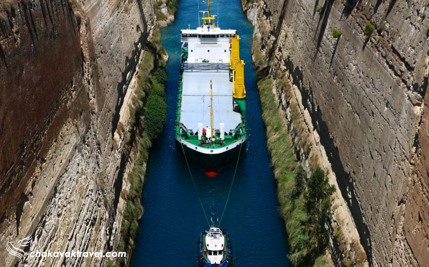 عبور کشتی از داخل کانال و ریز جزئیات و فکت های اطلاعاتی کانال کورنیس