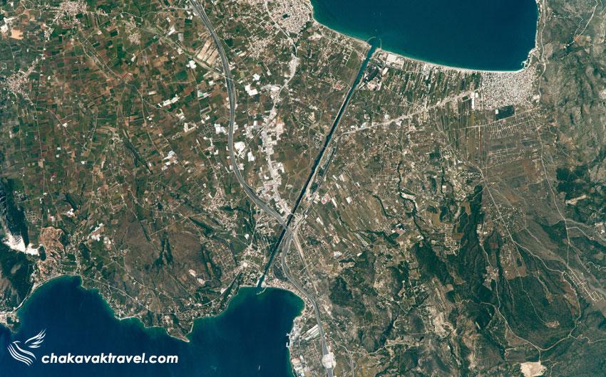 بررسی نحوه تردد از روی کانال و در داخل کانال کورنیس عکس هوایی ناسا از کانال کورنیس