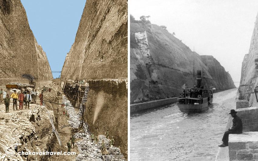 نگاهی به تاریخچه تاسیس ساخت کانال کورینس و مهندسی آن در کشور یونان