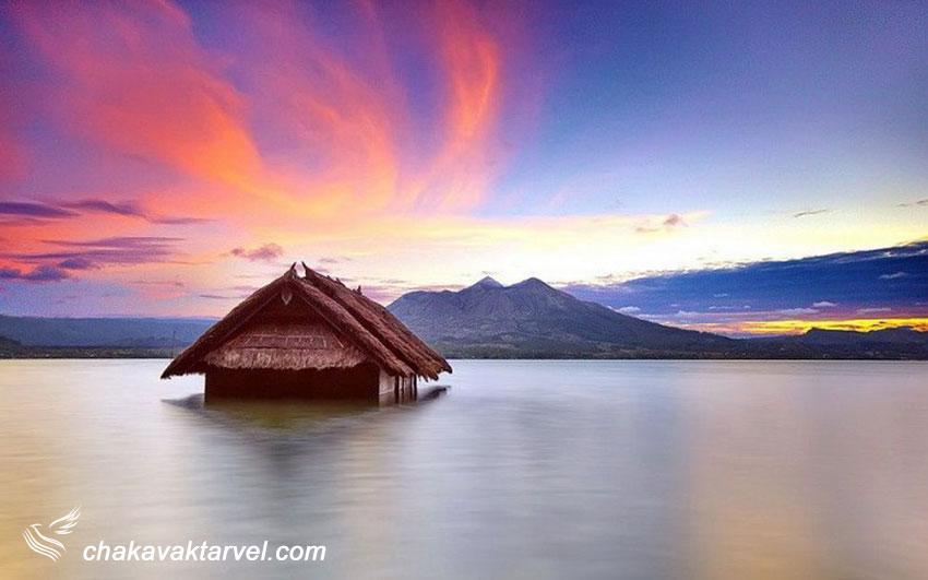 دریاچه باتور Lake Batur در منطقه Kintamani بالی اندونزی