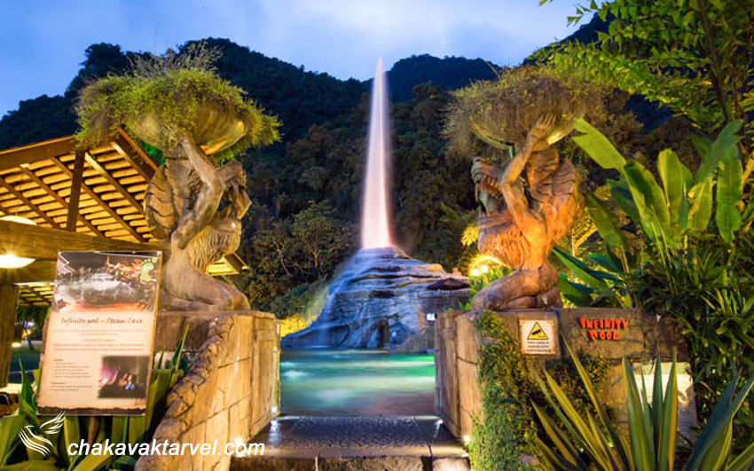 آبشار دنیای گمشده تامبون و سرسره پارک آبی آن