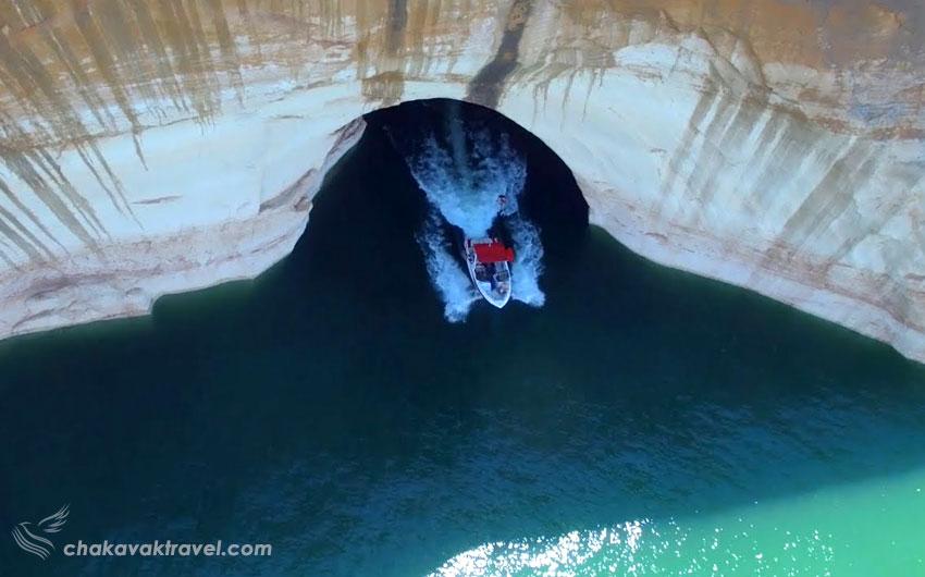 غار سورفین دریاچه پاول آریزونا یوتا Cave Surfin Lake Powell Arizona Utah