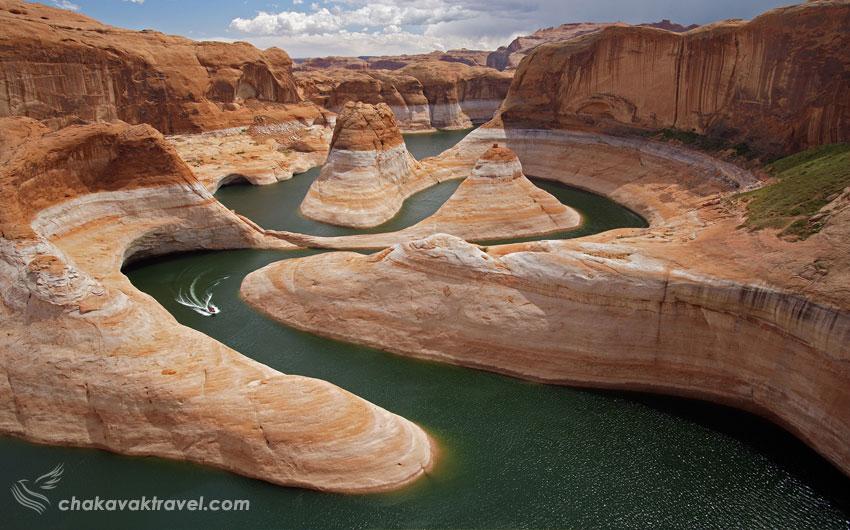 رودخانه کلورادو قبل از سرریز شدن به دریاچه پاول