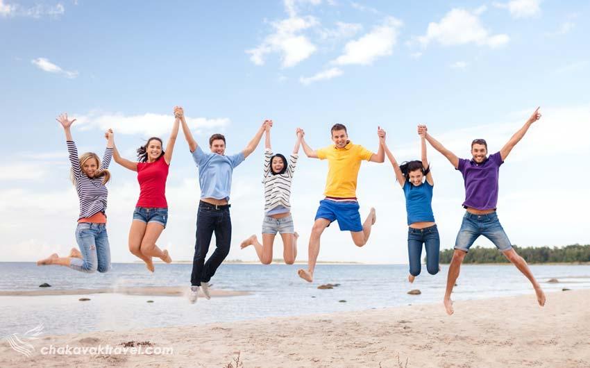 بهبود خلاقیت پرش روی هوا بصورت دسته جمعی در سفر با دوستان