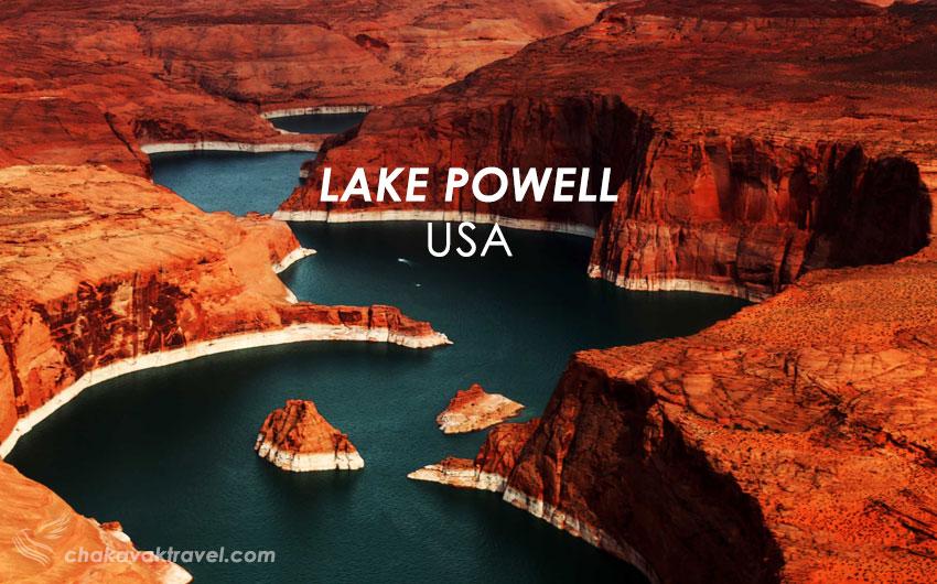 رودخانه کلورادو دریاچه پاول Lake Powell مقصدی جذاب برای تعطیلات آخر هفته