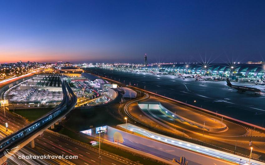 پایاته ها یا ترمینال های فرودگاه بین المللی دبی امارات Dubai International Airport