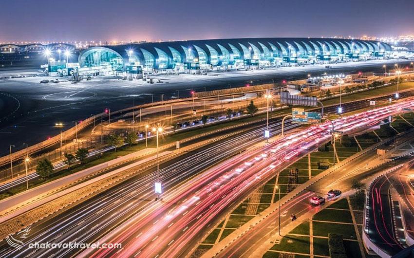 حمل و نقل و مترو تاکسی و اتوبوس و رفت و آمد و دسترسی و موقعیت به فرودگاه بین المللی دبی در امارات Dubai International Airport کد یاتا DXB و کد ایکائو OMDB