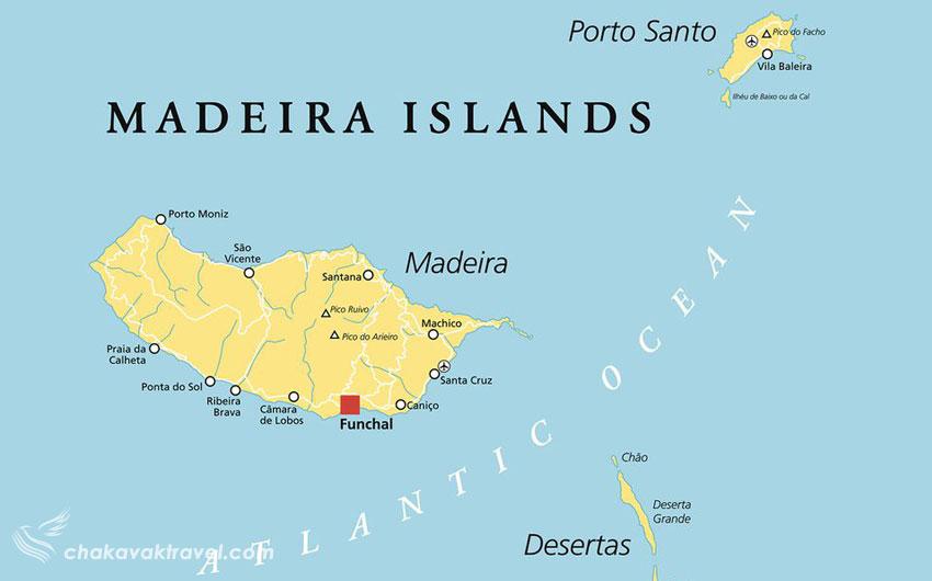 کشف و نقشه Madeira Islands مجمع الجزایر مادیرا