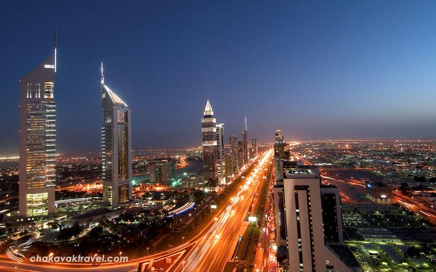 ساختمانهای اطراف خیابان شیخ زاید