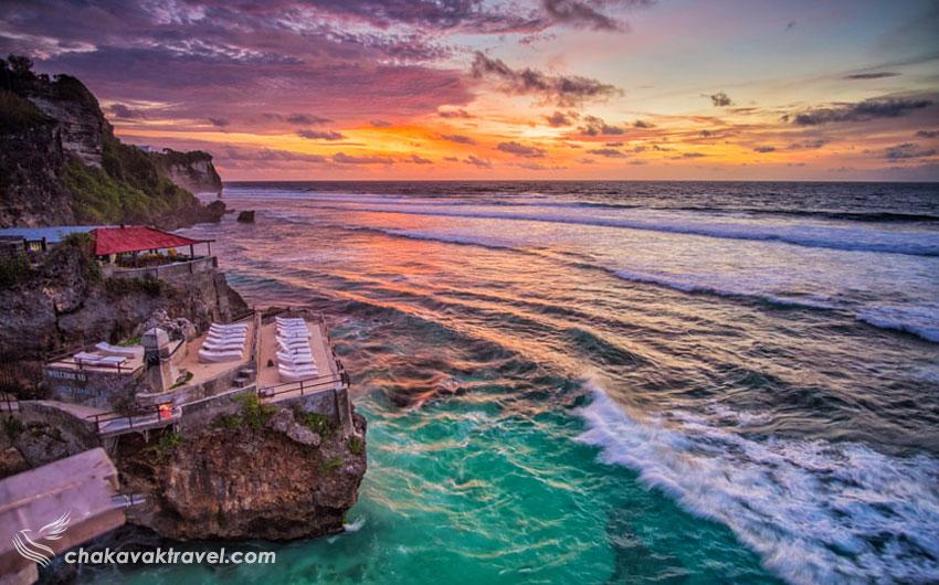 موقعیت مکانی ساحل آبی ساحل آبی یا Suluban Beach از ساحل کوتا
