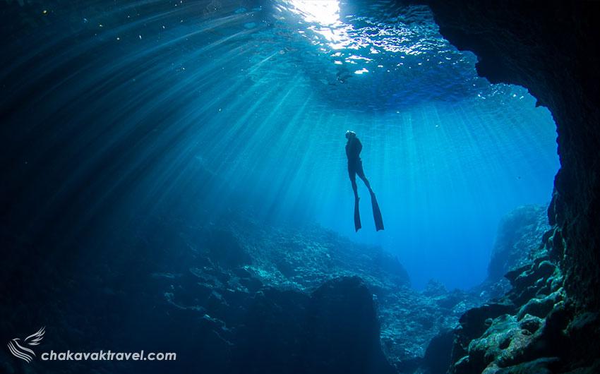 خطرات Diving مقاسه اسنورکلینگ Snorkeling و غواصی معمولی Underwater Diving