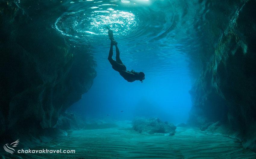 مقاسه اسنورکلینگ Snorkeling و غواصی معمولی Underwater Diving