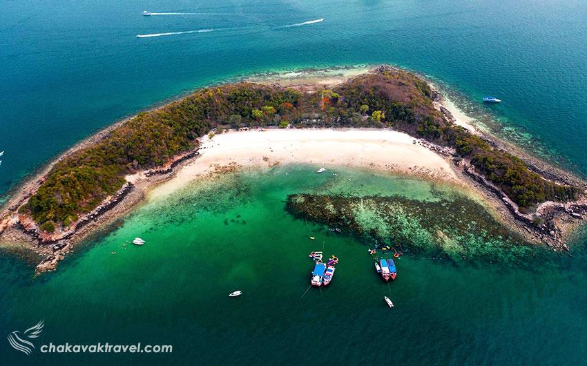 جزیره ساک Koh Sak در پاتایا تایلند جزیره کوه ساک نعلی شکل