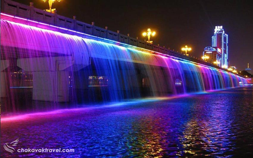 آبشار کانال آبی دبی Dubai Canalکانال آبی دبی Dubai Canal