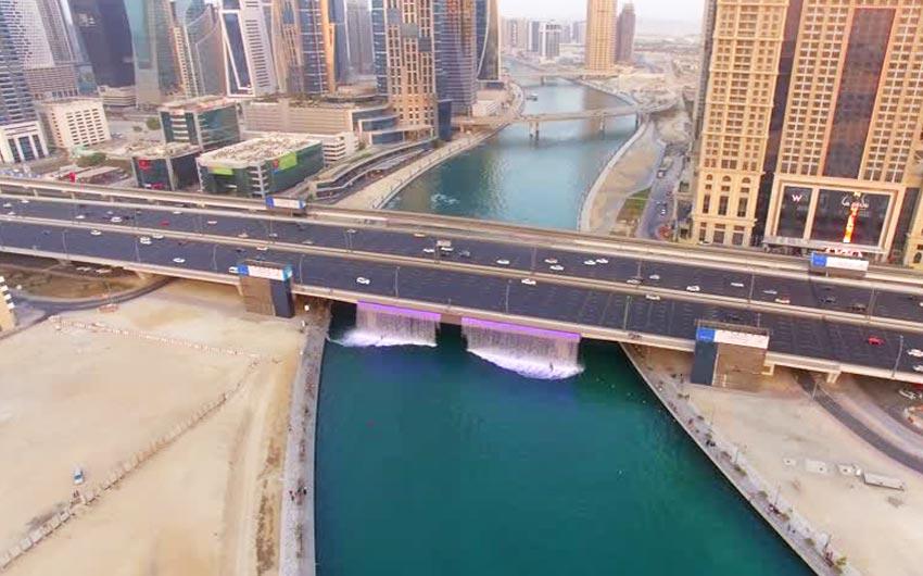 بزرگراه شیخ زاید کانال آبی دبی Dubai Canalکانال آبی دبی Dubai Canal