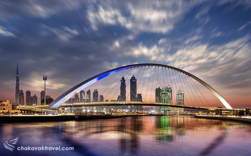 پل های روی کانال آبی دبی Dubai Canalکانال آبی دبی Dubai Canal